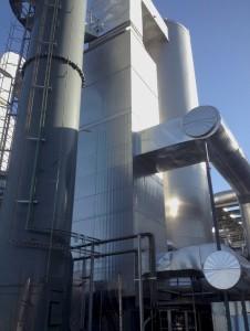 salida recirculación de gases desde precalentador caldera